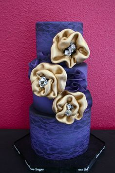 Purple Lace cake by Gimme Some Sugar (vegas!), via Flickr