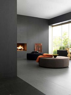 Ultra thin indoor/outdoor laminated stoneware wall/floor tiles SLIMTECH BASALTINA STONE PROJECT - LEA CERAMICHE