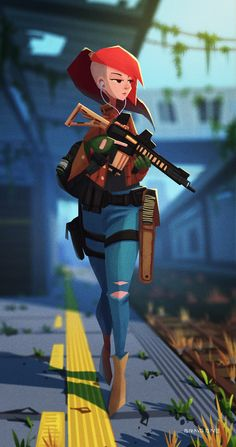 ArtStation - pmc_girl, wang dada