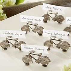 """""""Le Tour"""" Bicycle Place Card Holder - A Wedding Less Ordinary"""
