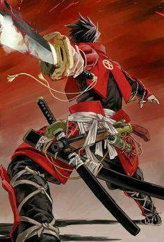 anime / samurai ►get Fantasy Male, Fantasy Warrior, Art Anime, Manga Art, Manga Anime, Evil Anime, Ronin Samurai, Samurai Art, Samurai Anime