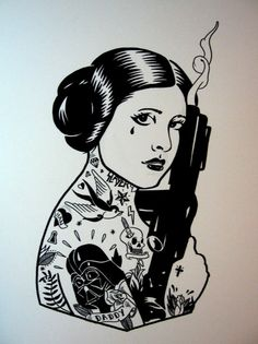 Star Wars / Mike Giant mash up - I just like her pose here, the rest is meh, in my opinion.