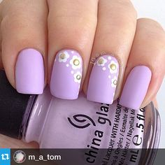 """""""#Repost @m_a_tom with @repostapp.・・・#nailartjan Studs. @chinaglazeofficial Sweet Hook with white acrylic paint and studs from @bornprettystore topped with matte top coat. Inspired by @lookatmynailart @chinaglaze @chinaglazeofficial"""" Photo taken by @alexandravicunaperry on Instagram, pinned via the InstaPin iOS App! http://www.instapinapp.com (01/27/2015)"""