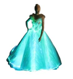 1dccc067b36d8 Light Up Evening Dress Glow-in-the-dark Wedding Dress Luminous Fiber Optic  Bridal Gown prom dress or homecoming formal attire