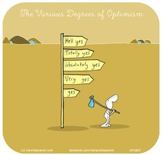 The Various Degrees of Optimism