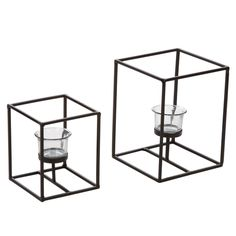 Amazon.com: Hosley's Set of 2 Candleholders with Clear Votive Glass, Lantern Tealight Holders. Includes Free Tea Lights. Ideal GIFT for Home,…