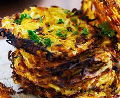 Kartoffel rösti med squash og løg
