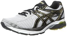 ASICS Mens GelFlux 3 Running Shoe SilverBlackGold 105 M US -- You can get more details by clicking on the image.