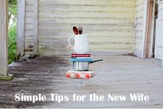 """""""Simple Tips for the New Wife."""" So simple and right on from the perspective of a Christian lady. Love it. Save for the someday future."""