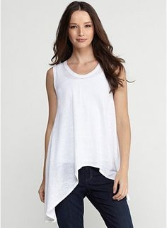 Soft V-Neck Tank in Linen Jersey. So simple but I love the hemline.