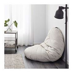DIHULT Pouffe, Katorp natural | Floor pillows, Cozy and Pillows