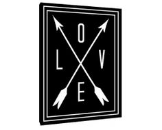 Love Quote - Custom Art Print - love and arrows - Home Decor - wall art - black and white love art - framed love arrow - hipster canvas art on Etsy, $59.00