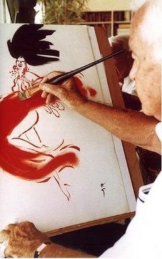 Master with a big brush?: rene gruau