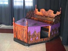 Haunted House Hush-Puppy Coffin Car built as a wedding gift in 2011.