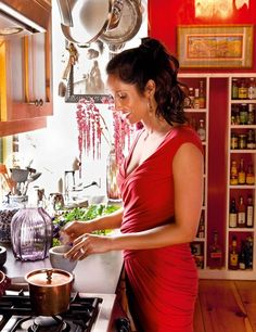 Padma Lakshmi New York City Kitchen