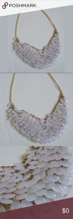 """New Beaded Bib Style Fashion Necklace Pretty Beaded bib style fashion necklace is apx 22"""" long with gold toned metal.  Length is adjustable. New with retail tag attached still.  Others similar to this one available for sale in my closet.  Bundle and save💚. Open to offers also😃 Jewelry Necklaces"""