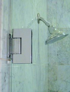 Frameless Shower Doors Use Bold And Attractive Hardware Notice The Greenish Tint Of 3