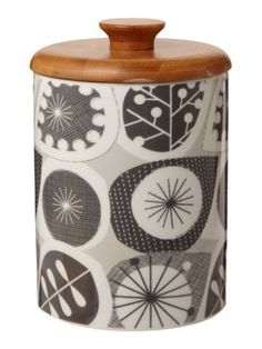 Linea by Michelle Mason Seed pod storage jar, grey - House of Fraser