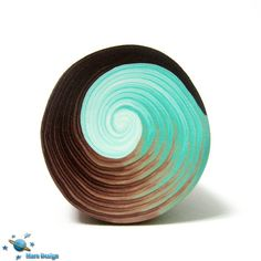 Brown aqua swirl cane   Flickr - Photo Sharing!