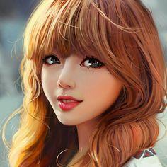 A portrait that i have draw in 2016 REF: http:& HQ : http:& Girly M, Cute Girl Drawing, Digital Art Girl, Wow Art, Beautiful Anime Girl, Anime Art Girl, Fantasy Girl, Portrait Art, Cartoon Art
