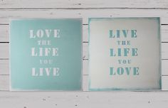 Set of 2 paintings Live the life you love marine style by WHITEand