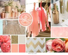 coral, gold, ombre and peach - exactly the colors and theme for the wedding :)