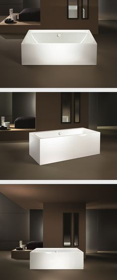 The free-standing MEISTERSTÜCK ASYMMETRIC DUO is truly eye-catching – particularly the new model which is 10cm longer (180 x 90cm). The seamless bathtub with overflow knob and flush-fitting recessed waste are made of fine KALDEWEI steel enamel, and transform a bathroom into your very own bathing oasis. #Kaldewei #Bathtub #Bath #Badewanne #Badezimmer #Bathroom #Meisterstück