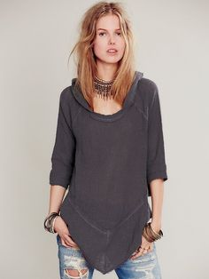 Free People Gauze Hoodie, $88.00 Very cute, Free People, but anyone who pays $88 for a hoodie is an idiot.