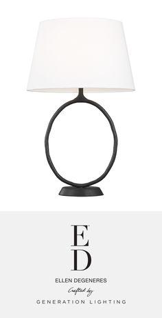 ED Ellen DeGeneres   Shop the Indo 1 - Light Table Lamp at clarksonlighting.com Ed Ellen Degeneres, Light Table, Lamp Design, Table Lamp, Kitchen Lighting, Cape Cod, Plymouth, Lighting Ideas, Chandeliers
