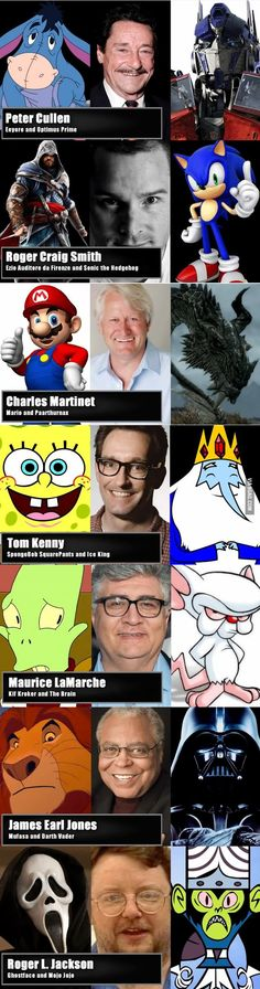Characters who share the same voice actor.