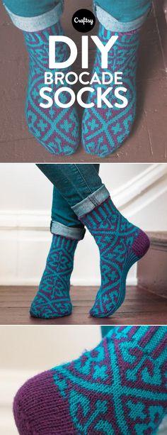 Brokade-Socken #stricken