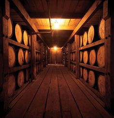 the racks at Buffalo Trace distillery