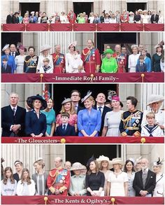 Members of The British Royal Family from left to right: The Duke and The Duchess of Gloucester, The Countess of Ulster, Lady Rose and George Gilman, this little boy is probably Xan Windsor (son of Earl and Countess of Ulster), Autumn Phillips, Mike Tindall, Zara Tindall, The Princess Royal, another little boy probably Albert Windsor (son of Lord NIcholas Windsor), The Duchess of Cornwall, The Prince Of Wales, The Duchess of Cambridge with Princess Charlotte, Prince George, The Duke of…