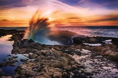 The Magnificent 11:  Surf meets rock to spectacular effect at Thor's Well, Cape Perpetua Scenic Area.