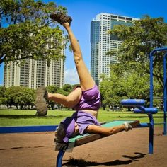 This 73-year-old woman has been working out with her 83-year-old husband at the same outdoor gym for the last 20 years.