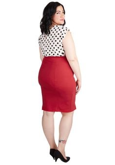 Style Essential Skirt in Red - Plus Size | Mod Retro Vintage Skirts | ModCloth.com