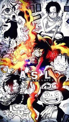 One Piece Series, One Piece World, Monkey D Luffy, Otaku Anime, Manga Anime, Anime Boys, Sabo One Piece, One Piece Wallpaper Iphone, Ace Sabo Luffy