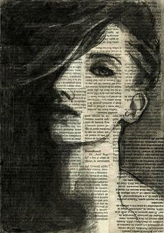 Print Art Postrait Charcoal Drawing Sketch  Painting by rcolo, $10.00