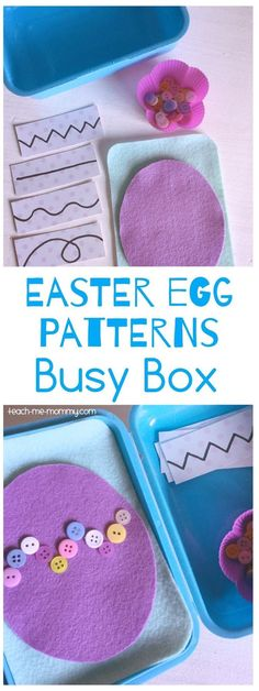 Easter Egg Patterns Busy Box: Cute for fine motor skills with the little ones