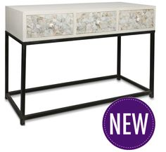 Mother of Pearl Wooden Console