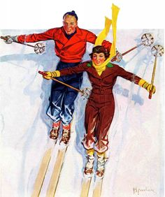 Couple Downhill Skiing - Marmont Hill