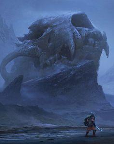 Fantasy Art Watch — Viking Quest by Sean Vo High Fantasy, Medieval Fantasy, Fantasy World, Fantasy Art Landscapes, Fantasy Landscape, Fantasy Concept Art, Fantasy Artwork, Fantasy Creatures, Mythical Creatures