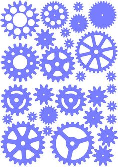 vinyl cogs and gears decal A4 version 2 by Paperfiction on Etsy, $5.99