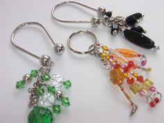Beaded Key Chain Green Beaded Key Chain Yellow Pink by mscenna, $8.00