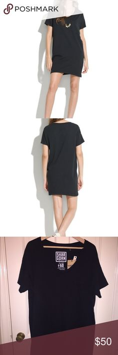 """Madewell Skargorn #60 Tee Dress NWT Perfect black all cotton tee dress by Skargorn for Madewell.  NWT in a large.  32.5"""" long.  So easy to throw on for an effortless look. Madewell Dresses Mini"""