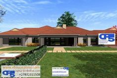 Overall Dimensions- x mBathrooms- 3 Car GarageArea- Square meters Tuscan House Plans, Family House Plans, Dream House Plans, Modern House Plans, Small House Plans, House Floor Plans, 6 Bedroom House Plans, Single Storey House Plans, House Plans South Africa