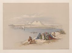 Pyramids of Gezeeh [Giza], from the Nile by David Roberts