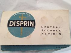 Packet of Disprin