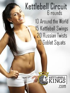 kettlebell workout, kettlebell exercise, kettlebell circuit Use coupon code 'PIN' at kettlebellkings.com for 10% off at checkout!