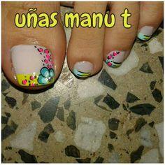 Pedicure Designs, Toe Nail Designs, Nail Polish Designs, Toe Nail Art, Nail Art Diy, Diy Nails, Crazy Nail Art, Crazy Nails, Summer Toe Nails